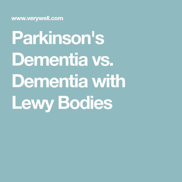 Parkinson's Dementia vs. Dementia with Lewy Bodies