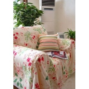 VINTAGE ROSES THROW COVER COUCH COVER FOR SOFAS. Vintage Sofa Cover  Protects And Extends