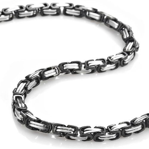 Mechanic Style Stainless Steel Mens Necklace Chain 55 cm (Silver Black) - Free Shipping: Men Necklaces, Style Stainless, Steal One, Cm Silver, Chains 55, Silver Black, Mechanical Style, Necklaces Chains, Stainless Steel