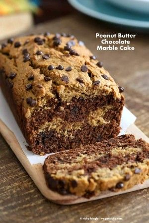 Almond or Peanut Butter Chocolate Marble Cake