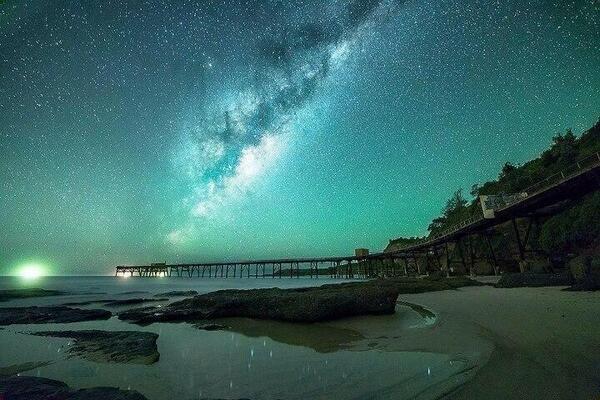 Milky Way over Catherine Hills Bay, Australia