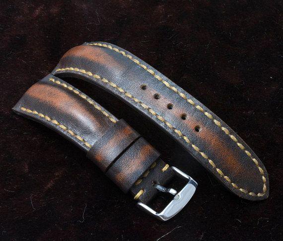 24x20mm brown leather watch strapBreitling by VladislavKostetskyi