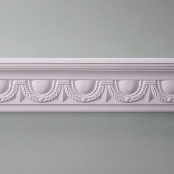 Plaster Coving | Egg & Swag Decorated Cornice | 105MM | MPC045