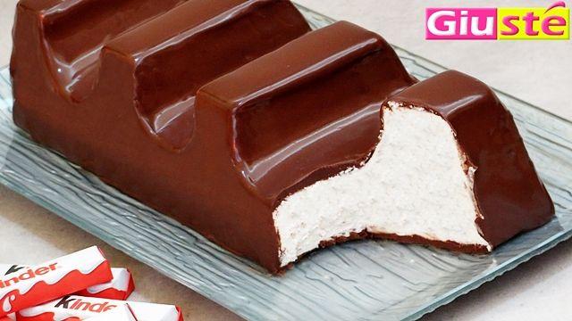 ...gourmands une nouvelle et surprenante vidéo recette du gâteau façon barette kinder chocolat géante,l'inoubliable barette kinder chocolat de notre enfance