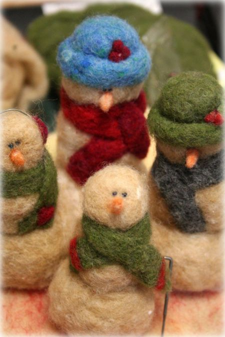 needle felted cuties