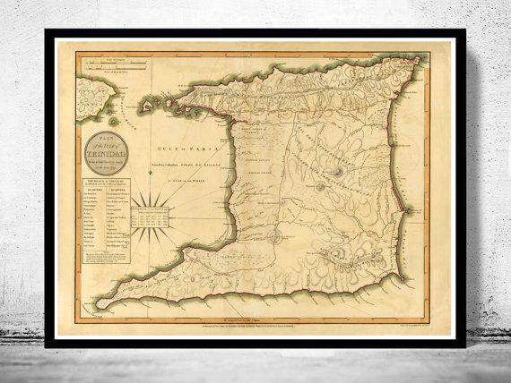 Trinidad, 1800 #map #trinidad #trinidadandtobago #tobago