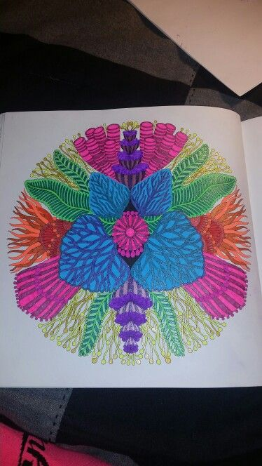 Adult Coloring Tropical World Book