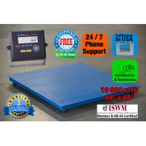 The PS-10000F 4x4 is ideal for industrial or shipping use. It is a high quality, professional floor/pallet scale. It also functions as a quality control device with check weighing details. Weight capacity is as high as 10,000lbs and it is accurate to 1lb.