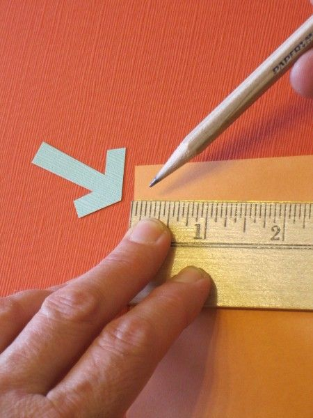 For anyone who likes creating things with paper, this is one of the best measurement shortcuts I've ever seen. I learned it in a bookbinding workshop led by Cherryl Moote. If you need to divide a rectangular sheet of paper into equal pieces, lay a ruler with the zero on one edge of the page. Slide the ruler down until a number divisible by the number of sections you need appears on the other edge of the paper. For example, I want to divide my 8.5 x 11″ sheet into 5 equal sections. I slide…