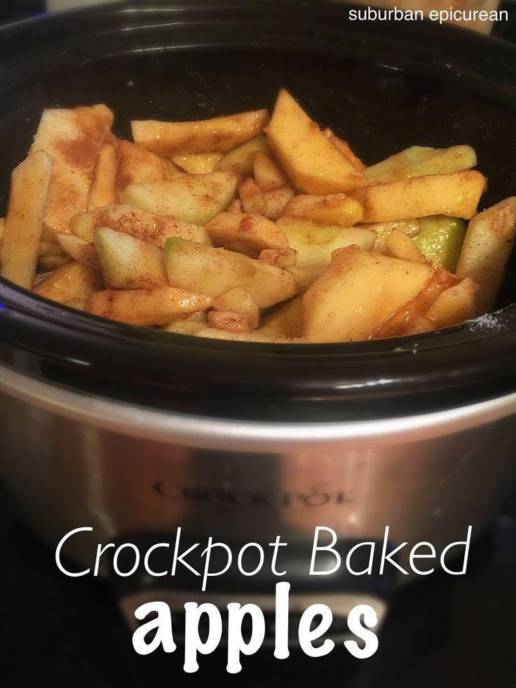 Suburban Epicurean: Crockpot Baked Apples #apples #slowcooker #crockpot #fallfood #bakedapples