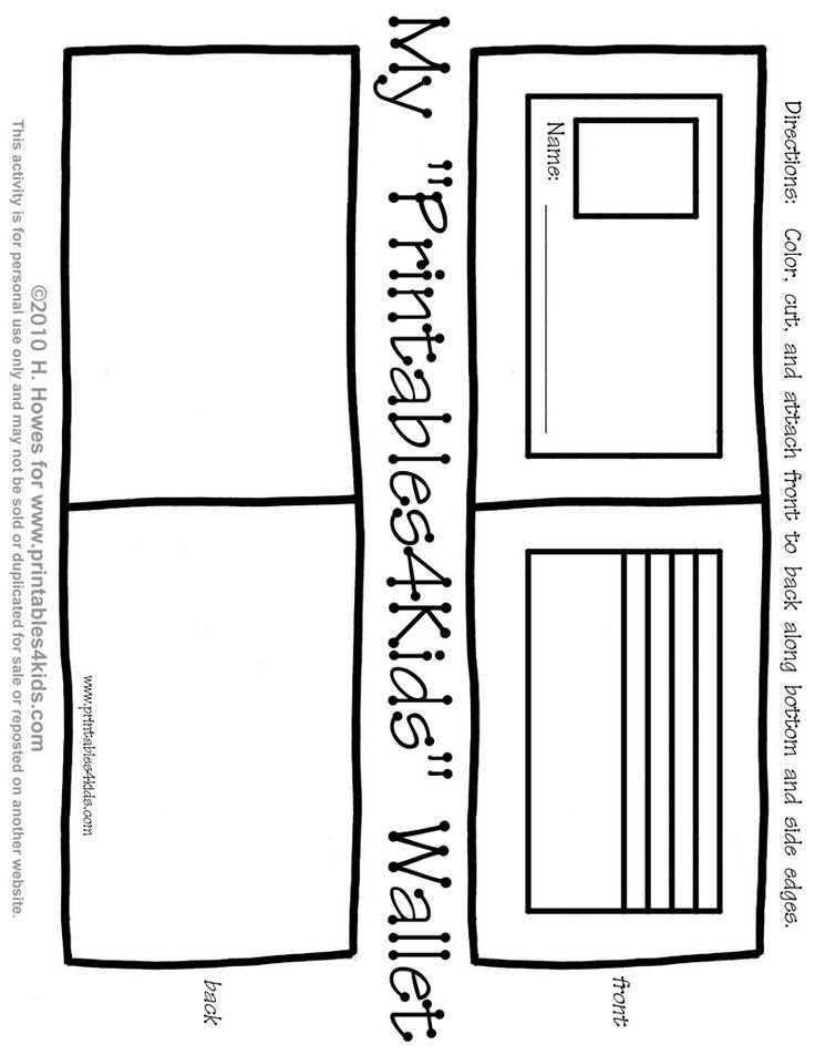 Free printable wallet I put paper