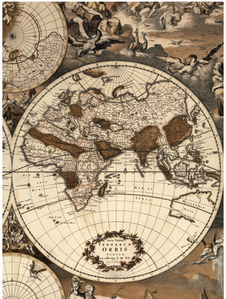 Frederik de Wit. Nova Totius Terrarum Orbis Tabula, circa 1668 (credit: Special Collections and University Archives, Stony Brook University).: Special Collection, Eski Harita, 1668 Credit, Nova Totius, Universe Libraries, Brooks Universe, Circa 1668, Orbi Tabula, Universe Archives