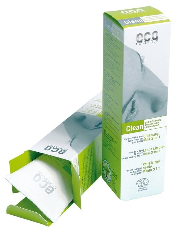 Demachiant bio 3 in 1 cu ceai verde, pentru toate tipurile de ten, 125ml, Eco Cosmetics - Sabedoria