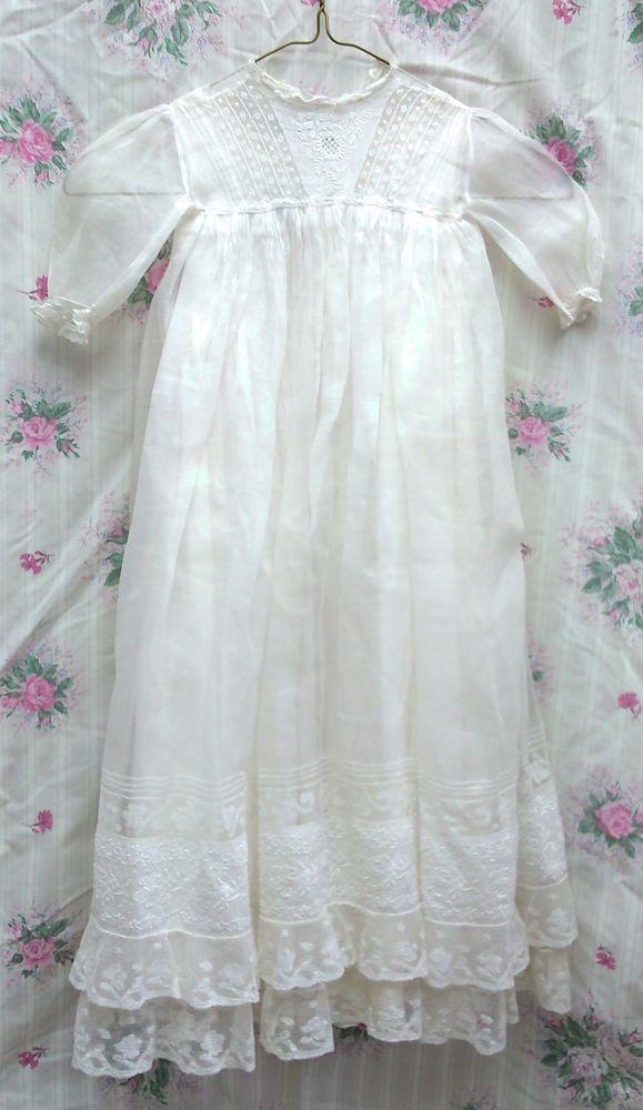 Antique Christening Gown and slip  | eBay