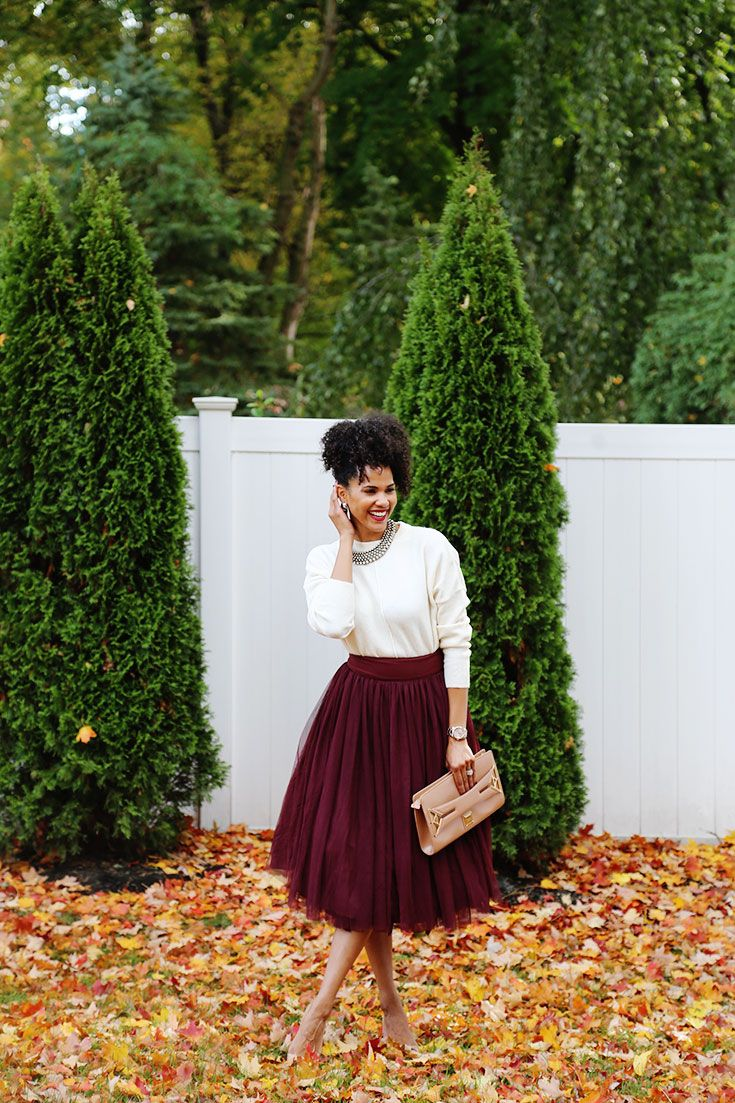Burgundy Tulle Skirt Perfect For The Holidays {Get It On Sale Now!}