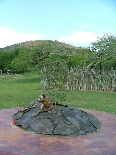The newly erected memorial to the brave Zulu dead who died at Rorke's Drift http://www.n3gateway.com/the-n3-gateway-route/the-battlefields-route.htm