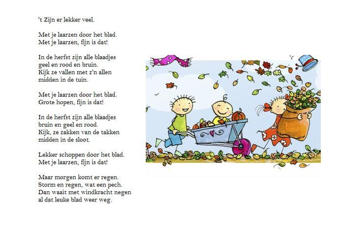 Gedicht 'Zijn er lekker veel'.
