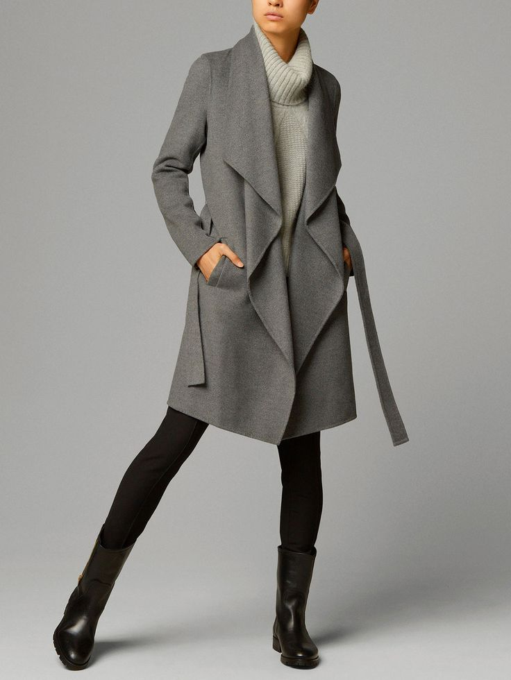 cape-coat with belt, by Massimo Dutti, Fall 14 Collection.  LOVE!!! If only I could afford it :P