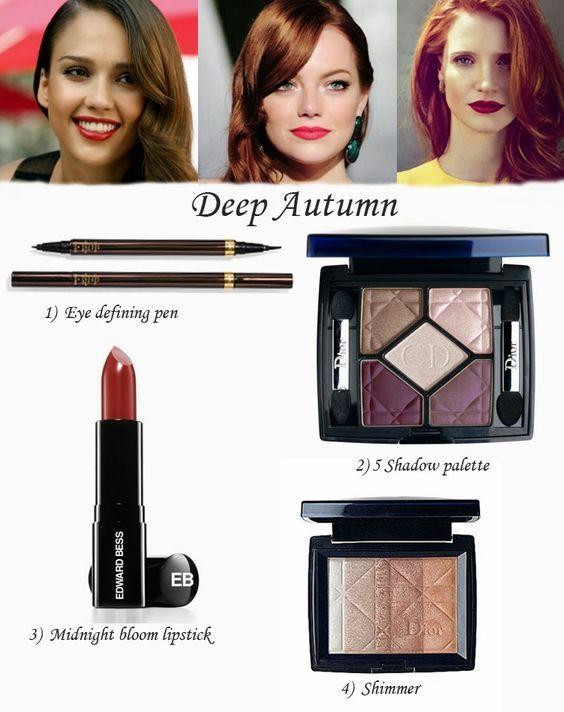 Ann Robie Fashion: The Best Makeup For Three Autumn Types: deep Autumn