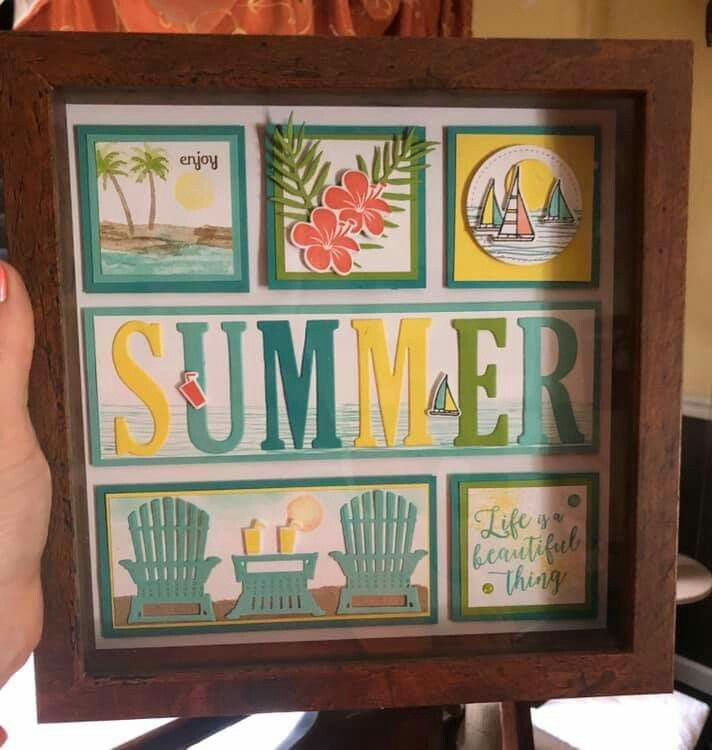 Pin By Tanya Ott On Paper Crafts Beach Themed Crafts Picture Frame Art Frame Decor