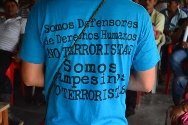 Somos campesinos, no terroristas