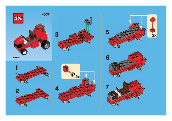 Monthly free mini model lego build instructions.