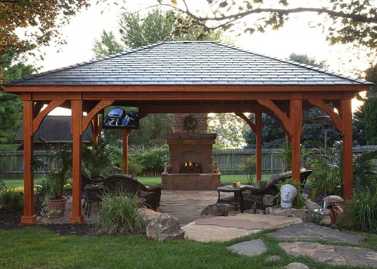 25 best ideas about outdoor pavilion on pinterest fire pit gazebo backyard pavilion and - Rustic outdoor kitchen designs simple means functional ...