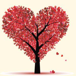 Árbol corazones
