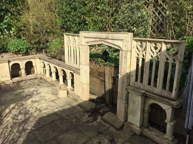 Ornamental Garden Stone Dividing Wall In Garden U0026 Patio, Garden Ornaments,  Statues U0026 Lawn Ornaments | EBay | Pretty Maids All In A Row | Pinterest |  Garden ...