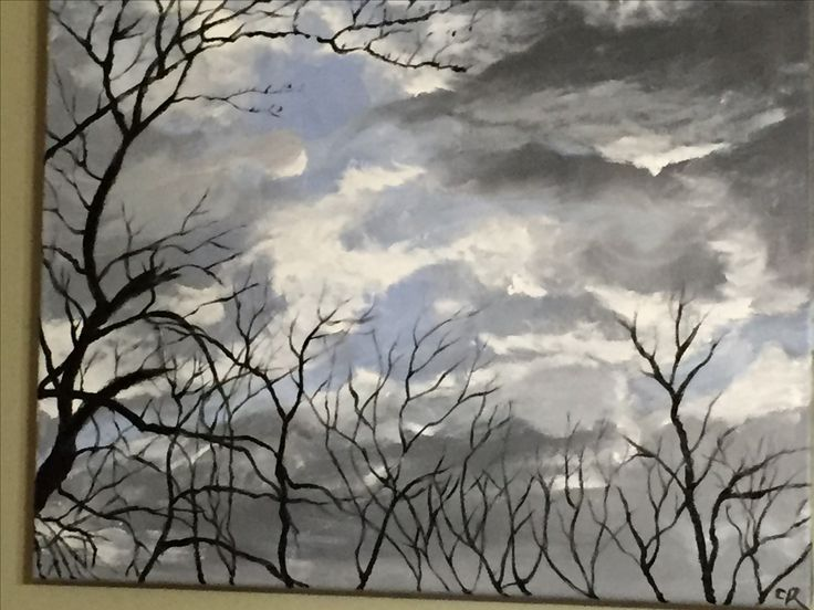 Stormy Sky-oil on canvas by Carol Rich