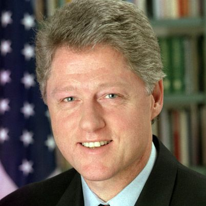 NAME: William Jefferson Clinton  OCCUPATION: U.S. President, U.S. Governor  BIRTH DATE: August 19, 1946 (Age: 66)  EDUCATION: Georgetown University, University of Oxford, Yale University Law School, Hot Springs High School, Arkansas Boys State  PLACE OF BIRTH: Hope, Arkansas  more about Bill  BEST KNOWN FOR    Bill Clinton was the 42nd president of the United States, and the second to be impeached. He oversaw the country's longest peacetime economic expansion