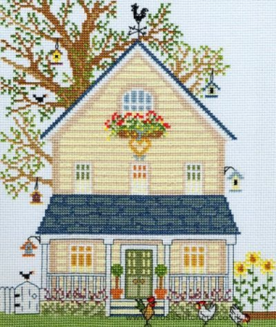 New England Homes - Summer - Cross Stitch Kit From Bothy Threads. Verzendkosten 9 pond per bestelling