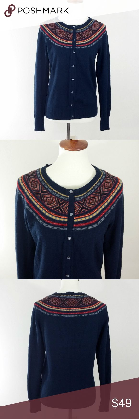 Lucky Brand Beaded Wool Cardigan