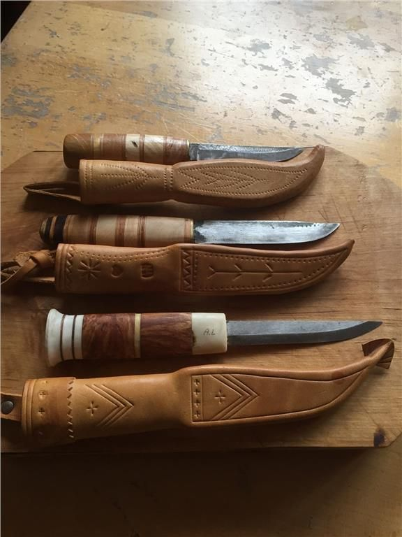 Tre fina handgjorda knivar på Tradera.com - Knivar från Europa | Knivar