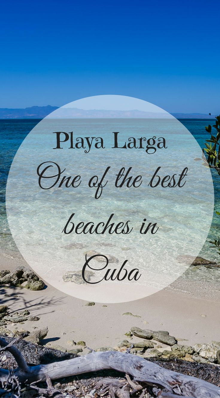 Playa Larga , Cuba. One of the best beaches in Cuba. Did you know some of Cuba's beaches just made the best beaches in the world list? Its true Cuba has many amazing beaches and Playa Larga is one of the best on the whole Island. Click to read more at http://www.divergenttravelers.com/two-week-cuba-itinerary/