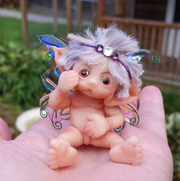 * De Hadas Bebé * Arcilla Polimérica * hecho a mano * Coleccionable * escultura * Miniatura * OOAK * | Muñecas y osos, Muñecas, Muñecas de arte - Única de su tipo | eBay!