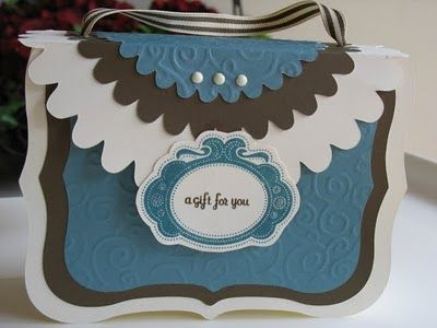 Courtney's Creations: Purse card holder or gift bag using the Cricut