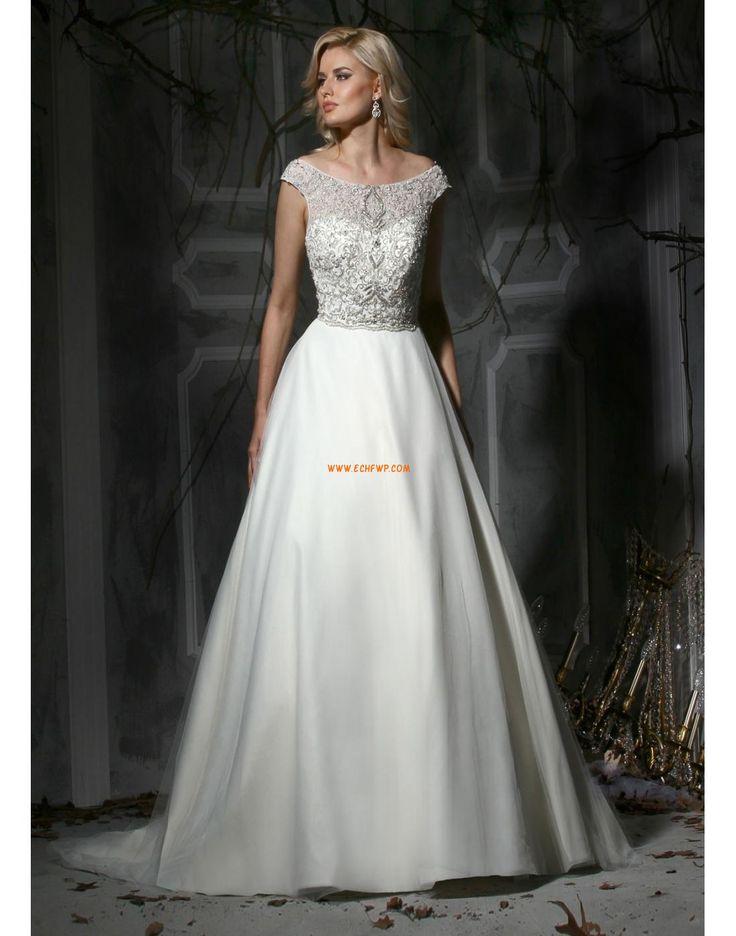 Na podlahu Tyl Zip Levné svatební šaty