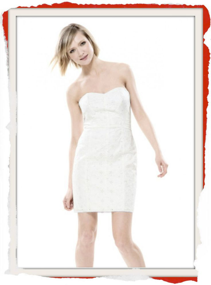 Classic Betsey Johnson White Cotton Eyelet tube dress with sweetheart neckline. $170 info@fashionjazz.com.au