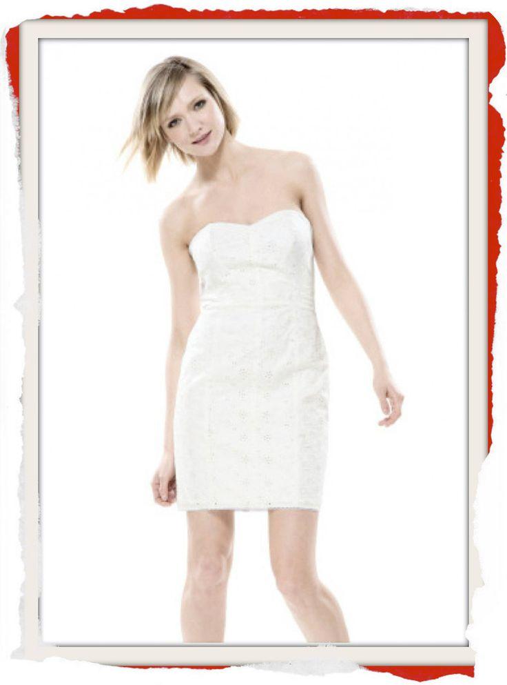 Classic Betsey Johnson White Cotton Eyelet tube dress with sweetheart neckline. $170 info@fashionjazz.com.au