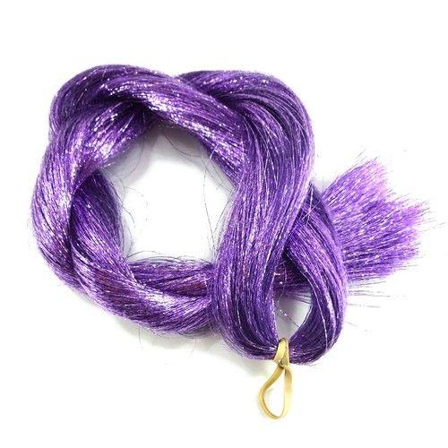 Crinkle Tinsel Hair, Lavender