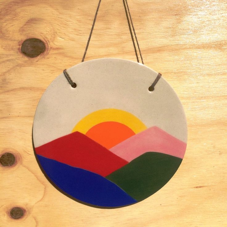 Hanging Mountain Disc by Pauline Wollstencraft.