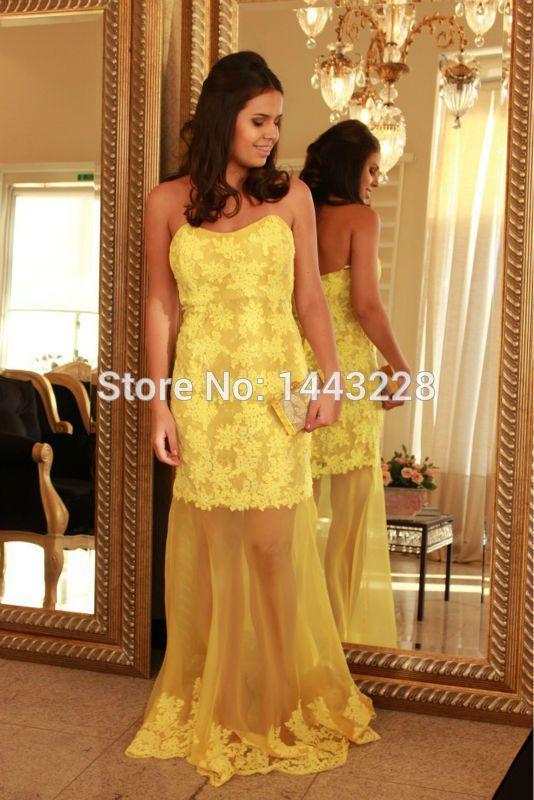 die besten 25 gelbe spitzenkleider ideen auf pinterest beige spitzenkleider pflaume kleid. Black Bedroom Furniture Sets. Home Design Ideas