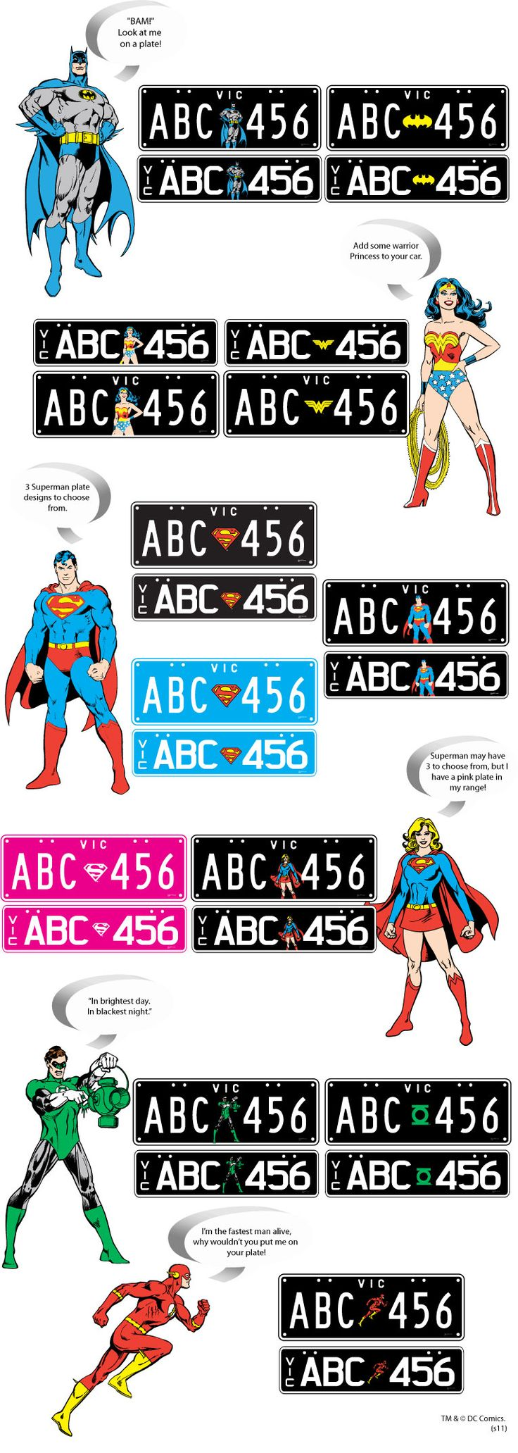 I would totally have superhero number plates if I lived in Aus!