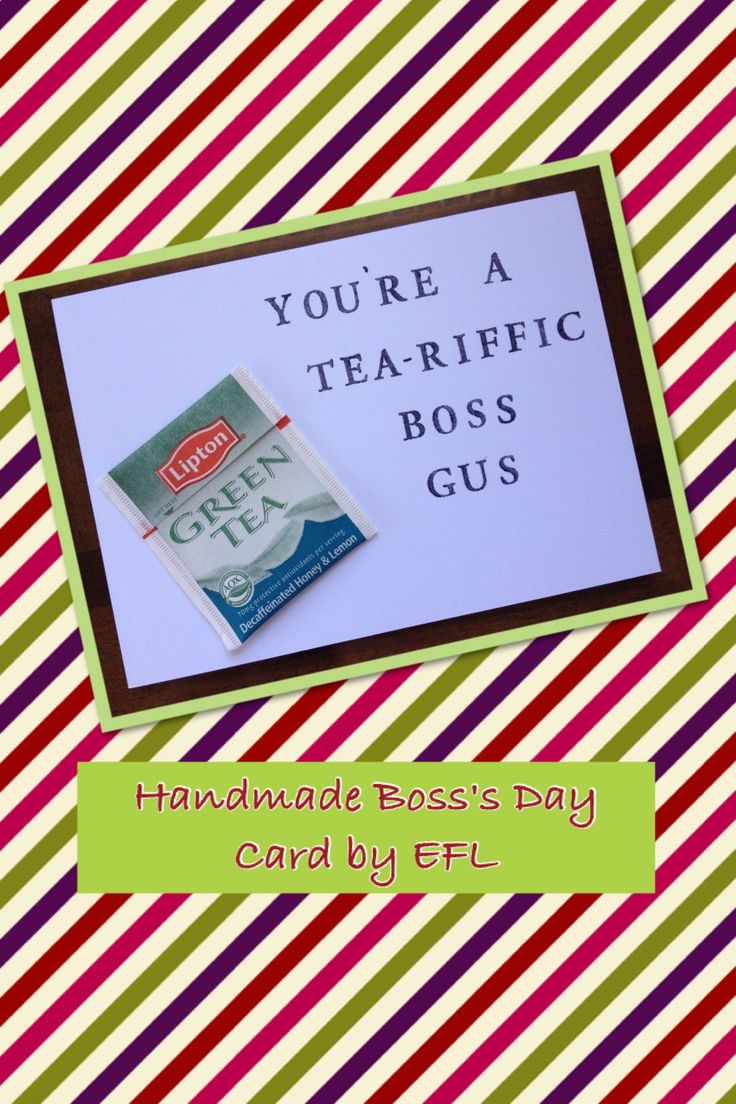 My Handmade Boss S Day Card By Efl My Homemade Cards By