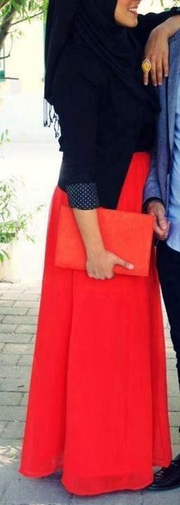 Hijabi Style :: The contrast colors are beautiful
