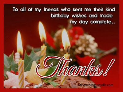 9 Best Thank You Birthday Wishes Images On Pinterest Wallpaper Thank You Happy Birthday Wishes