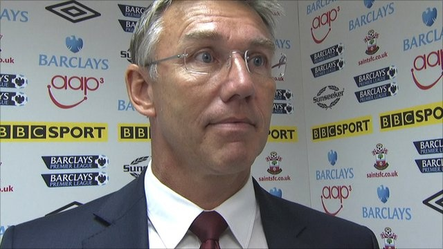"Southampton boss Nigel Adkins said ""massive togetherness"" helped his side beat Aston Villa 4-1 and secure their first Premier League win of the season."