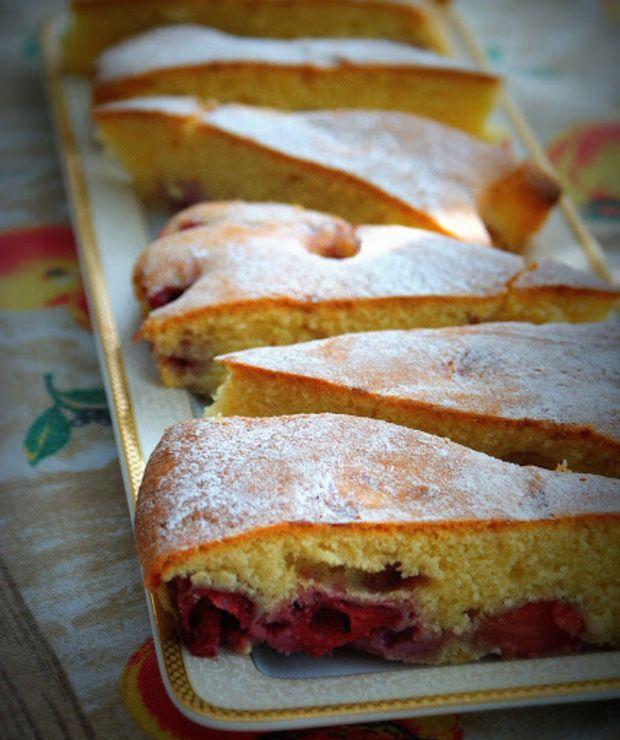 Proste i dietetyczne ciasto ucierane,  bez margaryny i  białej mąki - Desery i ciasta