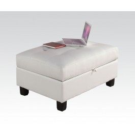 ACMEF51177-White Storage Ottoman